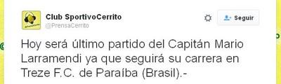 Cerrito, Mario Larramendi (Foto: Reprodução / Twitter)