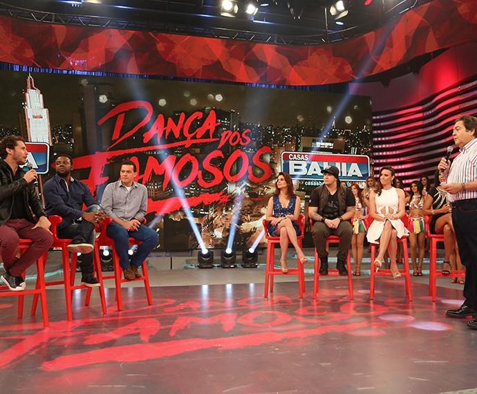 Eliminados do Dança vão ao Domingão (Foto: Carol Caminha / Gshow)