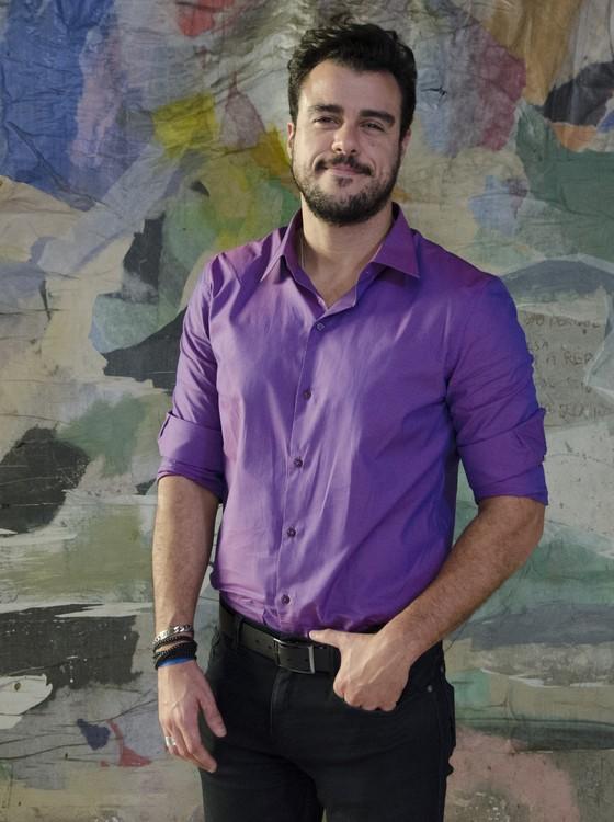 No filme Amor.com Joaquim Lopes interpreta Guido, um empresário descolado e bem sucedido (Foto: Rachel Soares)