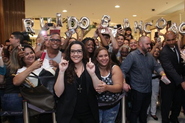 Lançamento do livro de Ana Carolina no Rio de Janeiro  (Foto: Wallace Barbosa/AgNews)