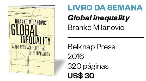 LIVRO DA SEMANA - Global inequality - Branko Milanovic (Foto: Divulgação)