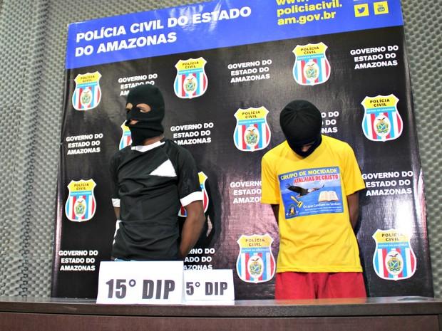 Eles foram localizados durante operação policial no domingo (24) (Foto: Adneison Severiano/G1 AM)