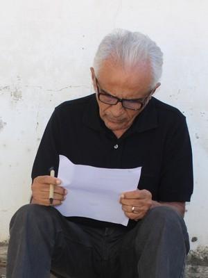 José do Egito eleições Flamengo-PI (Foto: Emanuele Madeira/GloboEsporte.com)
