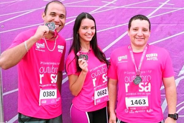 Profissionais da TV Integração participaram da corrida  (Foto: Divulgação | TV Integração )