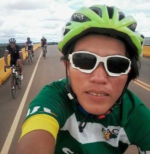 Aline Lima, ciclista Acre (Foto: Aline Lima/Arquivo Pessoal)