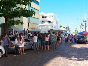 Protesto de professores em Salvador (Foto: Imagem/TV Bahia)