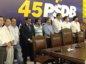 PSDB realizou convenção partidária em Uberaba (Foto: Reprodução/TV Integração)