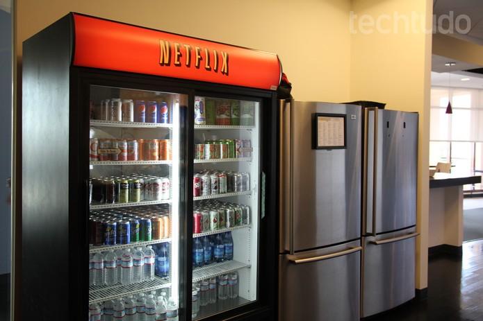 Na sede do Netflix, na Califórnia, tudo tem a cara do serviço de streaming (Foto: Isadora Díaz/TechTudo)
