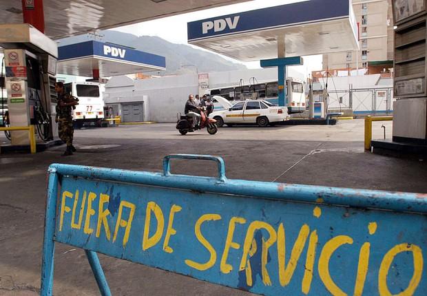 Postos fechados na Venezuela (Foto: Susana Gonzalez / Stringer/Getty Images)