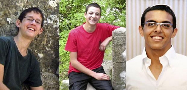 Os estudantes israelenses Naftali Frankel, Gil-ad Sha'er e Eyal Yifrach desapareceram na Cisjordânia (Foto: Reuters)