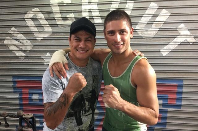 Daniel Rocha e Acelino Popó (Foto: Nicolas Graves)