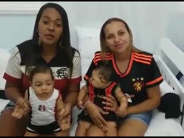 Mães participam de campanha nos estádios (Foto: Divulgação)