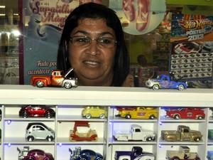Solange Maria de Carvalho exige carros da coleção dela e do marido em Campinas (Foto: Luciano Calafiori/G1)