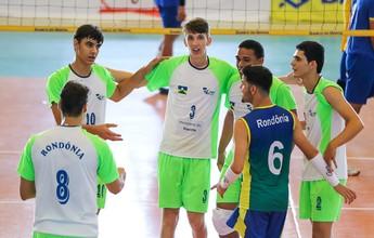 Rondônia perde para Bahia e fica com 6º lugar no Brasileiro de Vôlei Sub-20
