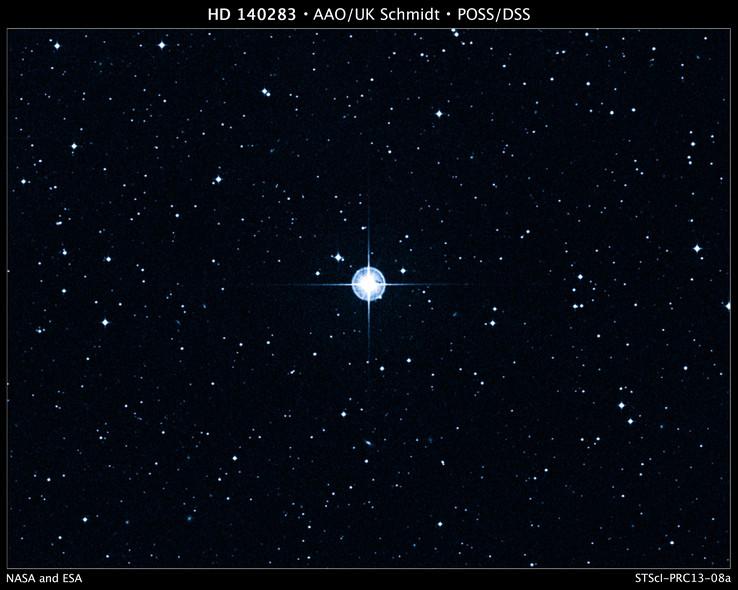 25 anos do Telescópio Espacial Hubble: A estrela HD 140283, a 190 anos luz de distância, na Via Láctea