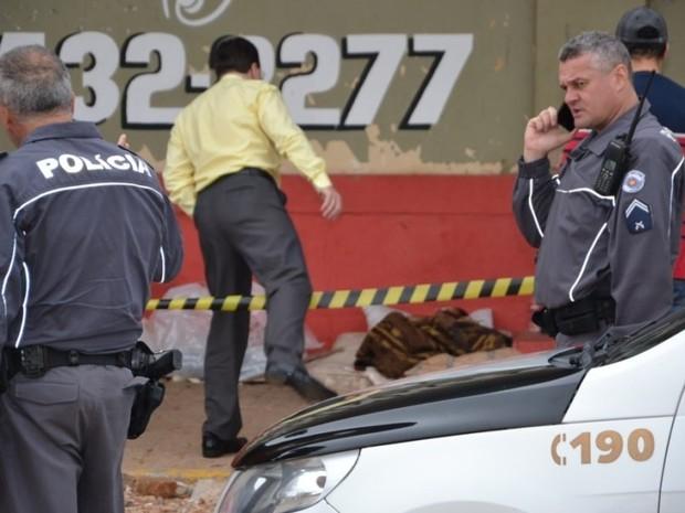 Polícias Militar e Civil acompanham o caso (Foto: Leonardo Moreno/Marília Notícia/Divulgação)