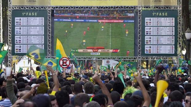 Imagem telão curitiba copa do mundo (Foto: Divulgação/Prefeitura de Curitiba)