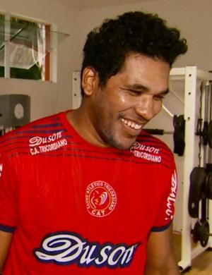 Reforço de peso do Tricordiano, Brandão promete usar experiência internacional a favor do clube (Foto: Reprodução EPTV)