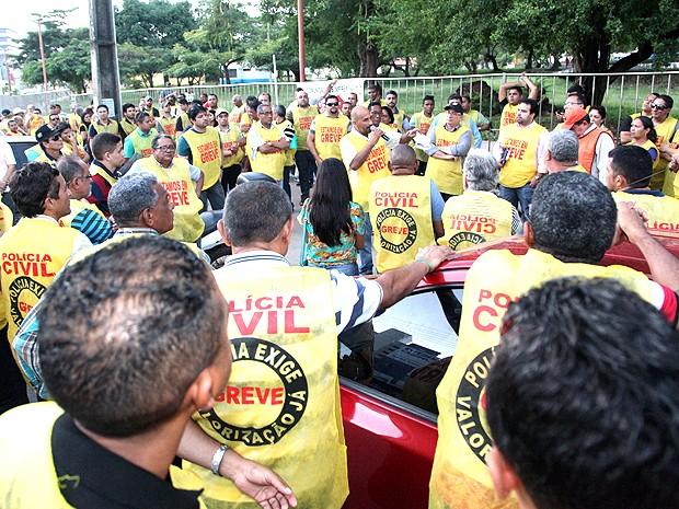 Greve de policiais civis do Maranhão chega ao quinto dia (Foto: De Jesus / O Estado)