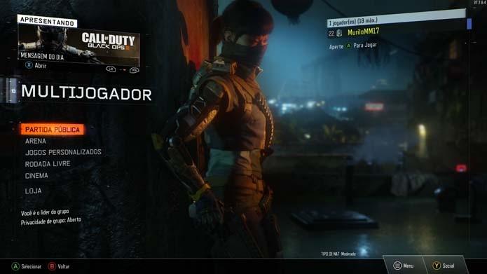 Como jogar os modos multiplayer de Call of Duty: Black Ops 3 com a tela dividida (Foto: Reprodução/Murilo Molina)