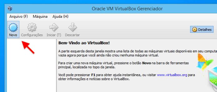 Criando nova máquina virtual  (Foto: Reprodução/Helito Bijora)
