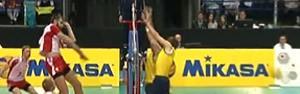 Brasil perde e se complica na Liga Mundial (Reprodução/TV Globo)