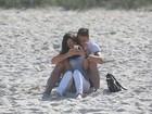 Olivier Giroud, jogador da França, curte passeio romântico com a mulher no Rio