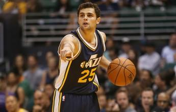 """Raulzinho comemora boa estreia com o Utah na NBA: """"Me senti muito bem"""""""