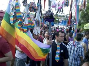 4ª Parada Gay de São Carlos reúne centenas de pessoas  (Foto: Luan Emílio)