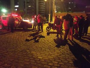 Suspeito de assalto foi morto em Candelária (Foto: Jocaff Souza/G1)