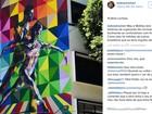 Artista brasileiro Eduardo Kobra pinta muro de escola de dança no Rio