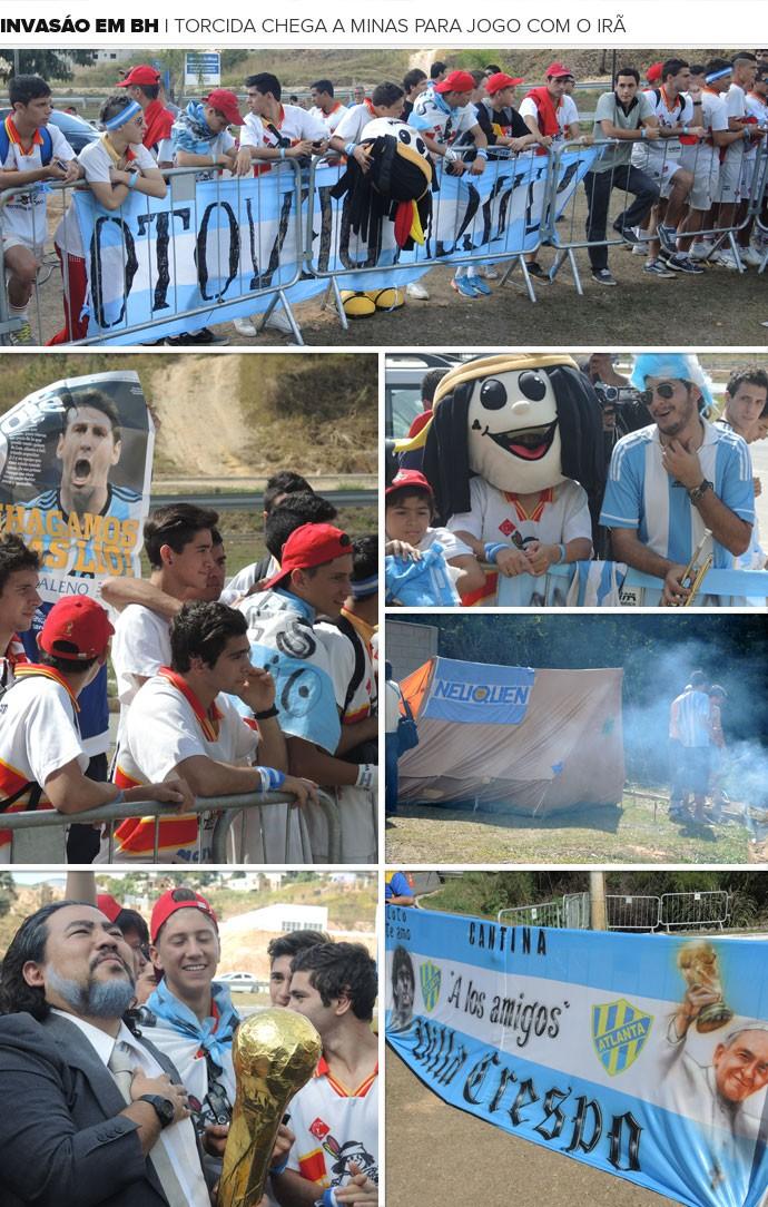 Mosaico torcida Argentina (Foto: Cahê Mota)
