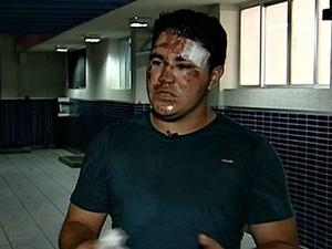 Marido de grávida atropelada no Espírito Santo diz que motorista é 'monstro' (Foto: Reprodução/TV Gazeta)