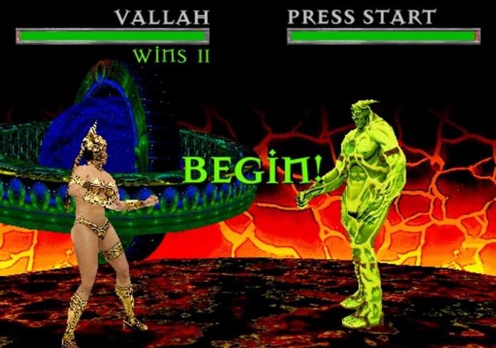 War of the Gods falhou miseravelmente e acabou com os sonhos da Midway de ter duas franquias parecidas de jogos de luta (Reprodução / Youtube)