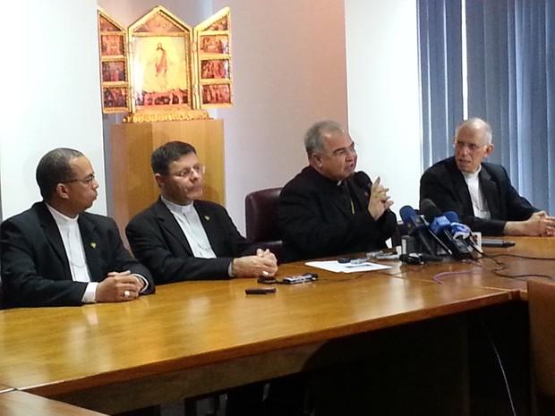 Dom Orani disse que conheceu o novo Papa em Aparecida (SP) (Foto: Andressa Gonçalves / G1)