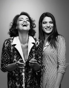 Os personagens da peça são duas mulheres (Lavínia Pannuzio e Maria Manoella) e um homem invisível (Foto: Jair Golgflus)