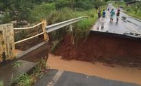 Rodovias da região Centro-Oeste Paulista são interditadas após chuva (Giuliano Tamura/TV TEM)