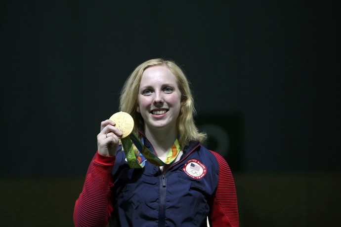 Virginia Thrasher tiro medalha (Foto: Reuters)