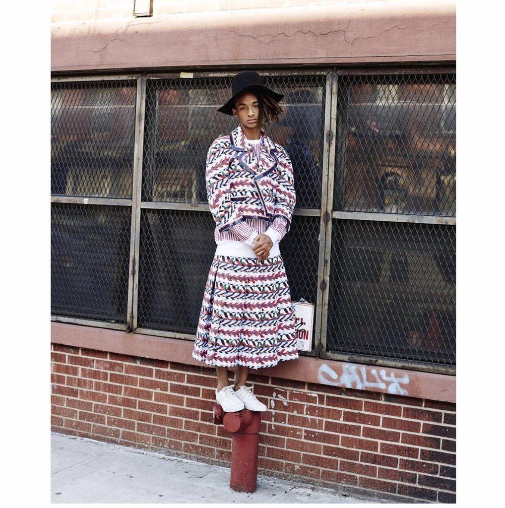 """Jaden Smith exibe estilo """"gender fluid"""" em editorial para a Vogue Korea (Foto: Reprodução)"""