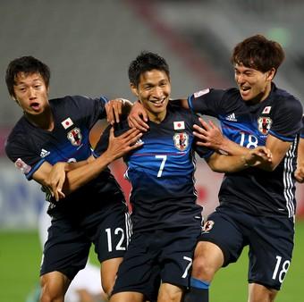 Japão x Iraque na seletiva asiática das Olimpíadas (Foto: Reuters)