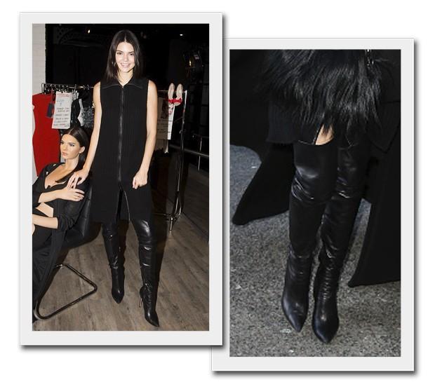 Kendall Jenner - Botas over the knee (Foto: Reprodução/Getty)