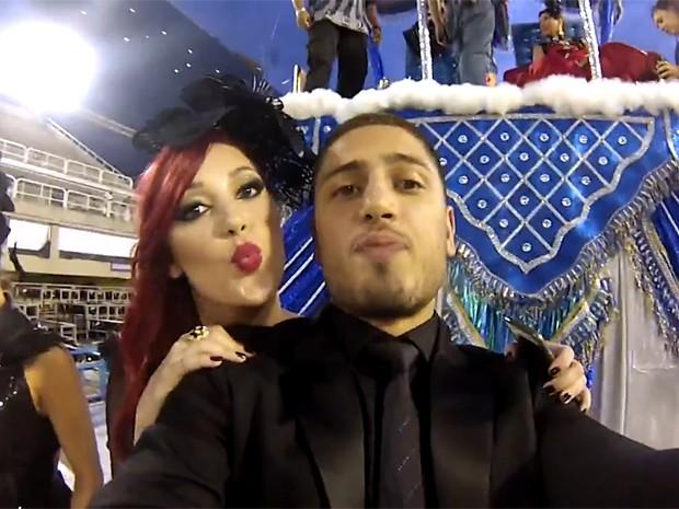 Daniel Rocha e Josie Pessoa mostram bastidores do desfile (Foto: Gshow)