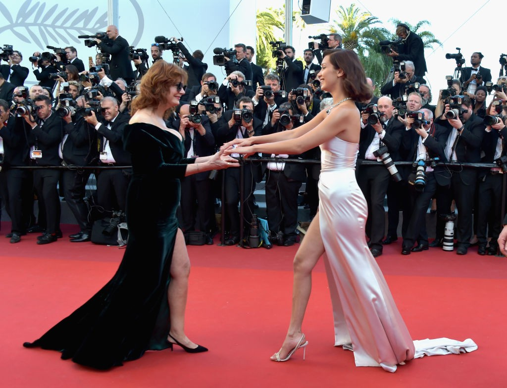 Susan Sarandon e Bella Hadid no Festival de Cinema de Cannes (Foto: Getty)