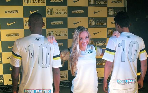 Uniforme novo Santos número Gabriel Gabigol Victor Andrade (Foto: Bruno Gutierrez)