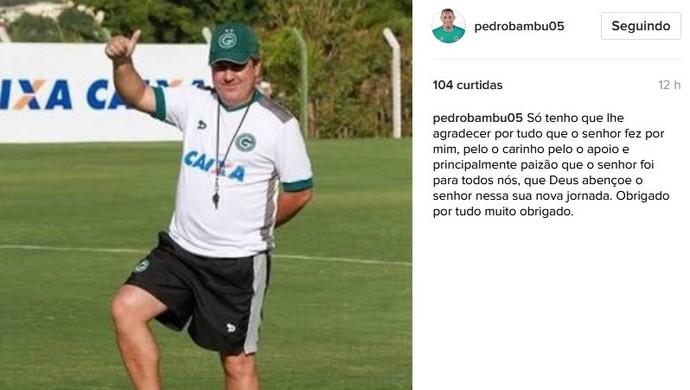 Pedro Bambu deseja sorte a Gilson Kleina (Foto: Reprodução / Instagram)