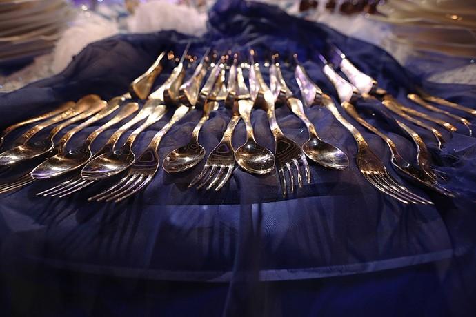 Talheres da festa (Foto: Raphael Dias/Gshow)