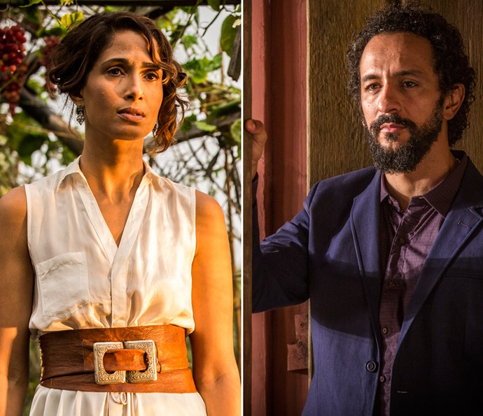 Tereza e Bento vão se unir em prol do produtor rural (Foto: Inácio Moraes/ Gshow)