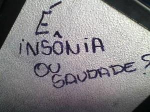 Mensagem foi registrada por Fabiana Candida em ônibus de Campinas, SP (Foto: Fabiana Candida / Arquivo Pessoal)