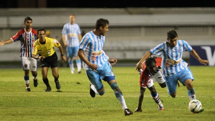 Paysandu x Maranhão - Marcos Paraná e Ricardo Capanema (Foto: Everaldo Nascimento/O Liberal)