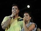 Anitta canta com Xanddy em ensaio do Harmonia do Samba na Bahia